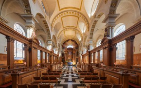 Picture interior, London, UK, Diliff, Fleet Street, St Bride's Church