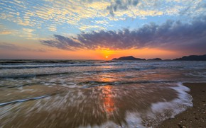 Picture sea, wave, beach, summer, the sky, sunset, summer, beach, sky, sea, sunset, seascape, beautiful, wave