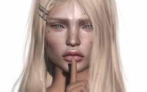 Picture eyes, face, background, finger, lips, look