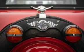 Picture retro, lights, emblem, classic, Morgan +4