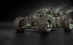 Picture machine, art, Buggy, Alexandr Novitskiy, Buggy for Apocalypse