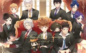 Picture anime, guys, mafia, Katekyo Hitman REBORN!, The clams