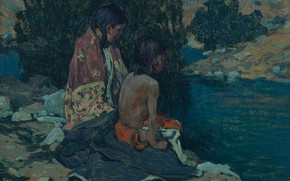 Picture the river, Eanger Irving Couse, Two Indian Children