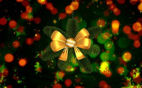 Picture background, tree, New year, bow, bokeh