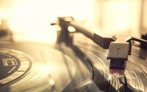 Wallpaper vinyl, record, record player