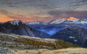 Picture mountains, nature, plain