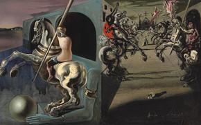 Wallpaper surrealism, picture, Salvador Dali, Salvador Dali, Parade Of The Knights