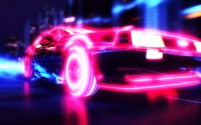Picture Car, Neon, synthwave