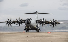 Wallpaper cargo and transport aircraft, Airbus A400M, military, aircraft, 003, air force