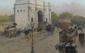 Picture picture, the urban landscape, Frits Thaulov, Fritz Thaulow, Marble Arch. London