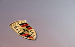 Picture macro, Porsche, the hood, emblem