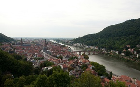 Picture Home, Bridge, River, Germany, Panorama, Roof, Building, Bridge, Germany, River, Panorama, Heidelberg, Heidelberg