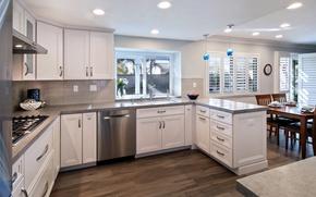 Picture furniture, interior, window, kitchen, mansion, Kitchen