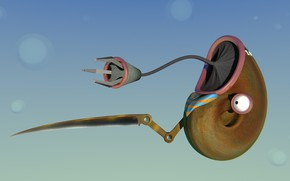 Picture joke, blender3d, 3dart, nanobot, blender render