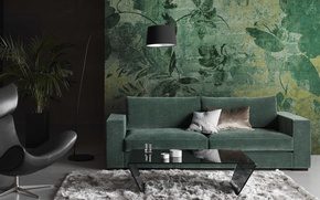 Picture design, room, interior, living room