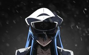 Picture cold, snow, anger, cap, in the dark, mercenary, Akame ga Kill, Esdeath, Akame GA Kill