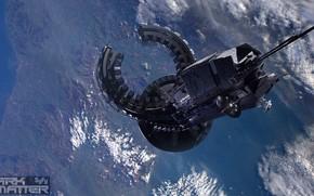 Picture ship, planet, DARK MATTER, dwarf spacestation, Season 2 Episode 9