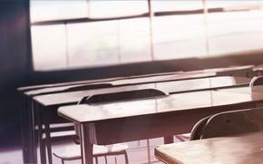 Picture interior, desks, classroom