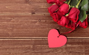 Picture red, love, heart, romantic, gift, roses, red roses, valentine`s day