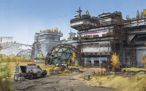 Picture station, facilities, object, car, Abandoned Research Lab