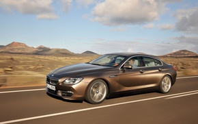 Picture road, BMW, sedan, Gran Coupe, 6-Series