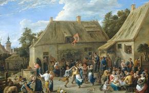 Picture oil, picture, canvas, genre, David Teniers The Younger, Peasant Fair