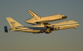 Picture flight, the plane, Shuttle, Boeing 747