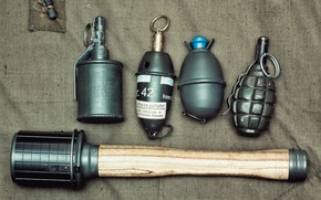 Picture different, grenades, German, Soviet