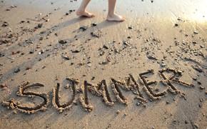Picture sand, sea, beach, summer, stay, summer, beach, vacation, sea, seascape, sand