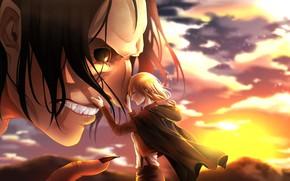 Picture girl, anime, art, friends, Titan, Attack on Titan, Attack of the titans, Shingeki no Kyoj