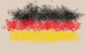 Picture abstraction, Germany, cloud, flag