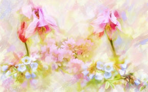 Picture flowers, figure, graphics, treatment, picture, art, painting, gently, easy, drawing, strokes, digital painting, digital, drawn, ...