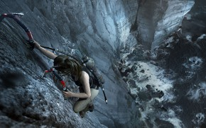 Picture hair, mountain, Tomb Raider, Lara Croft, icebreaker, Shadow of the Tomb Raider