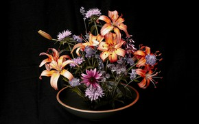 Picture flowers, bouquet, flower art