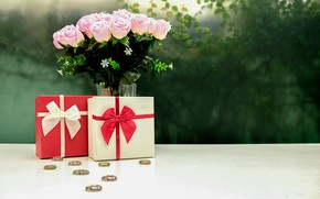 Picture flowers, roses, bouquet, gifts, Holiday