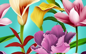 Wallpaper seamless, seamless, Flowers, Floral, pattern, pattern
