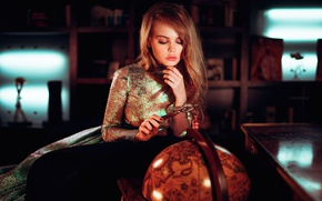 Wallpaper magnifier, globe, Nastya, Anastasia Shcheglova