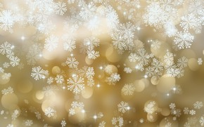 Wallpaper snowflakes, snowflakes, background, golden, with, texture