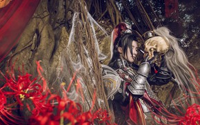 Picture forest, style, skull, armor, male, cosplay