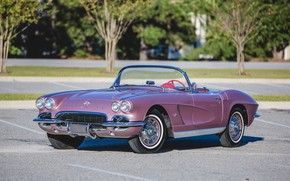 Picture retro, Corvette, Chevrolet, convertible, 1962