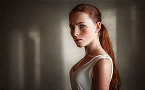 Picture Catherine, freckles, Kate, the beauty, redhead, George Chernyadev