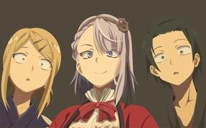Picture background, girls, surprise, guy, kash of dagashi