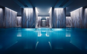 Wallpaper England, London, pool, the hotel