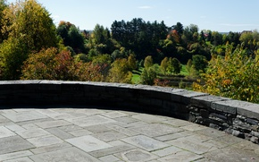 Picture Autumn, Panorama, USA, USA, Fall, Autumn, Panorama, Cornell Plantations
