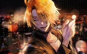 Picture look, portrait, anime, guy, Boku no Hero Academy, Kaminari Denki
