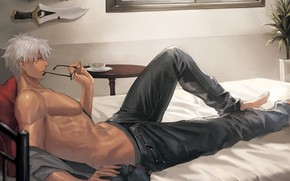 Picture sexy, anime, art, guy, Archer, Fate stay night, Archer