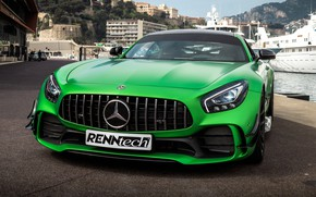 Picture Mercedes-Benz, front view, AMG, 2018, RennTech, GT R