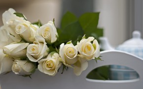 Picture flowers, roses, bouquet, white, white, flowers, bouquet, roses