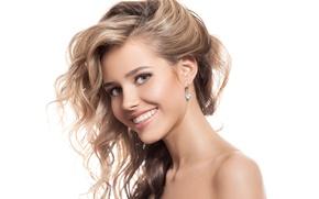 Wallpaper smile, female, blonde
