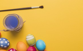Picture paint, eggs, Easter, Holiday, brush